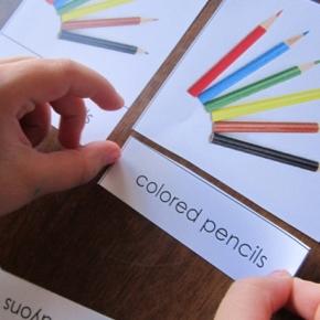 Using Montessori 3-Part-Cards